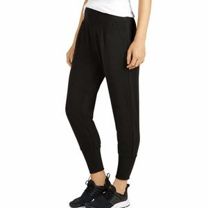 Cozy Large Tappered Jogger Black Lounge Athletic L